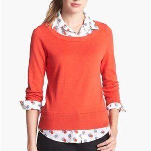 Kate Spade Yardley Layered Polka Dot Red Sweater
